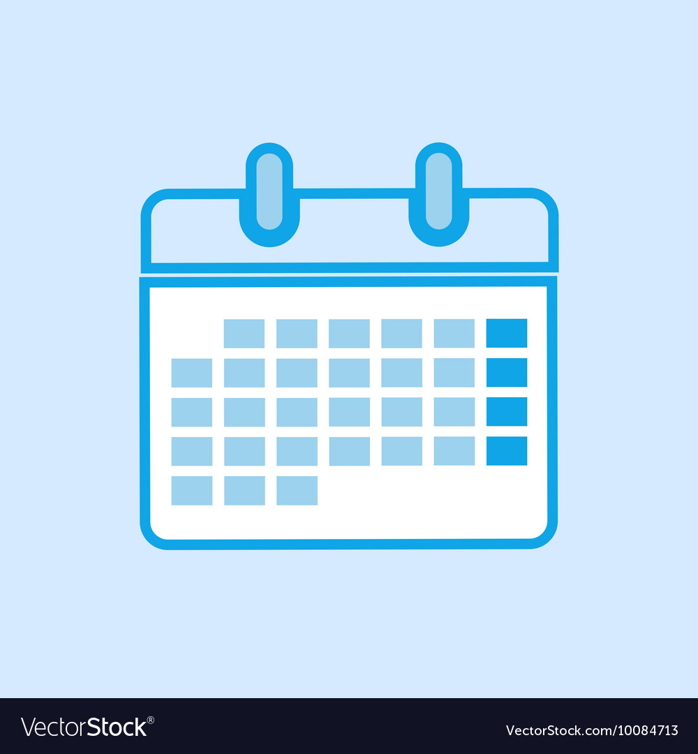 Calendar Icon Simple Blue
