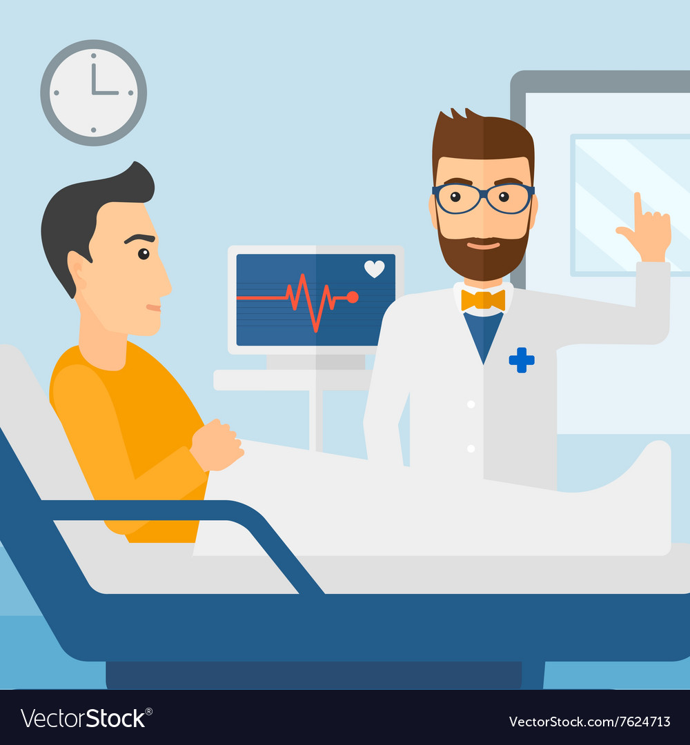 doctor visiting patient royalty free vector image vectorstock