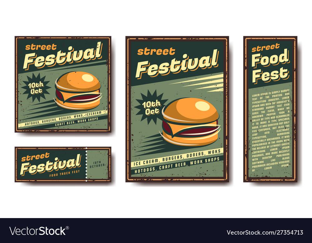Fast food retro poster