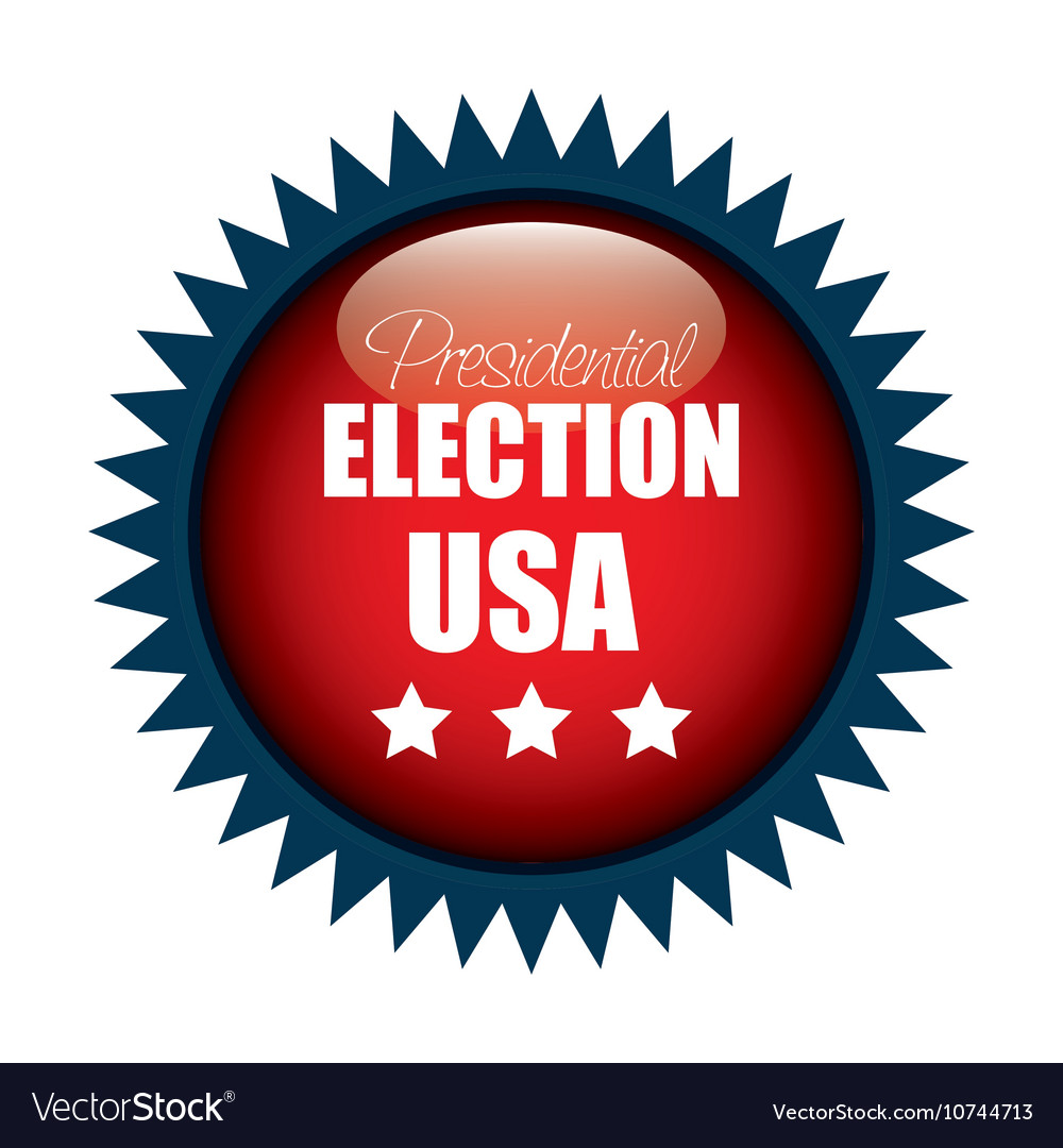 Icon button presidential election usa graphic