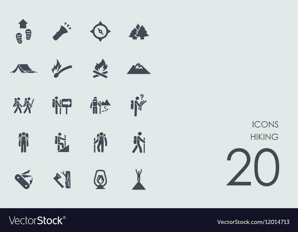 Set of hiking icons