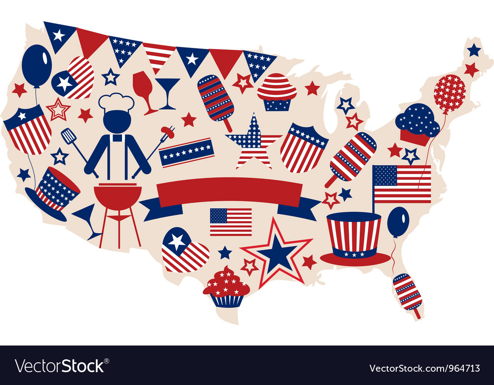 USA icons for american independence day
