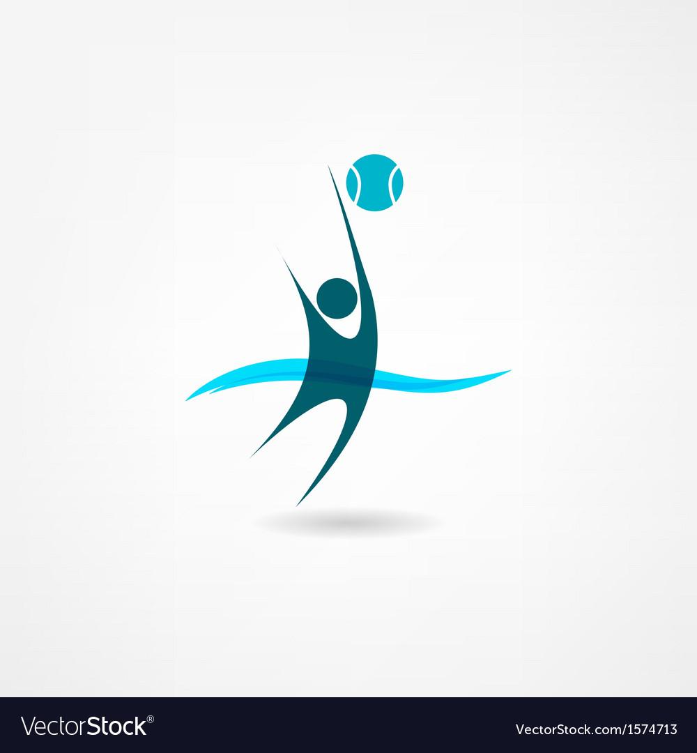 Water polo icon vector image