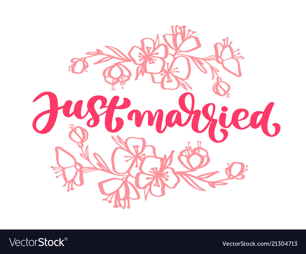 Wedding decorative hand drawn lettering of