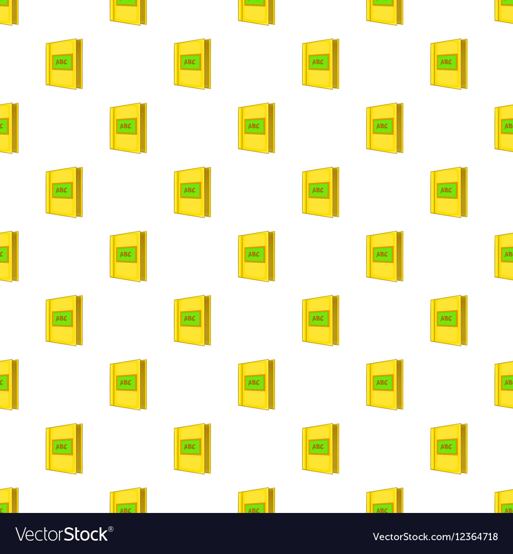 ABC book pattern cartoon style