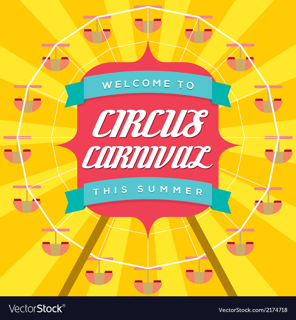 circus carnival poster template royalty free vector image