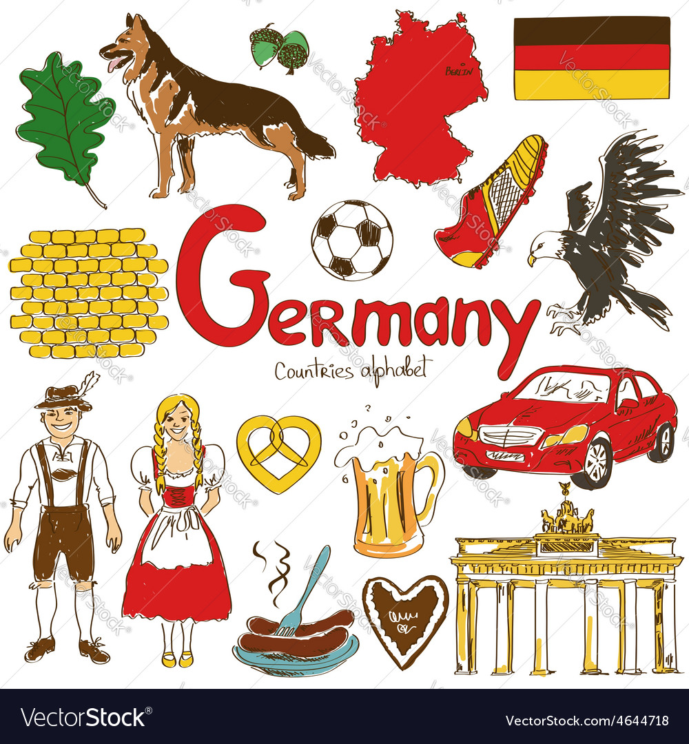 Collection germany icons