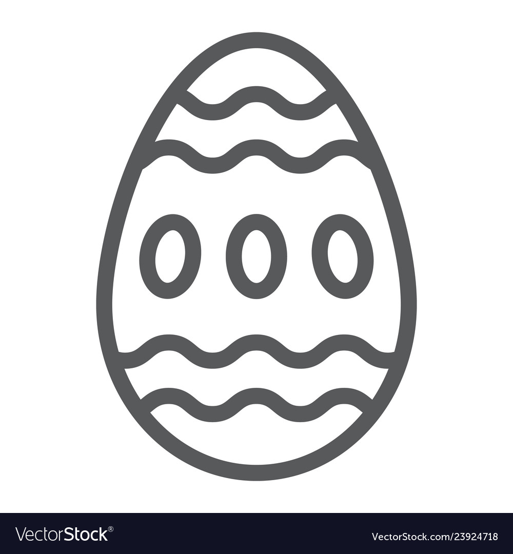 Easter egg line icon food and easter decoration