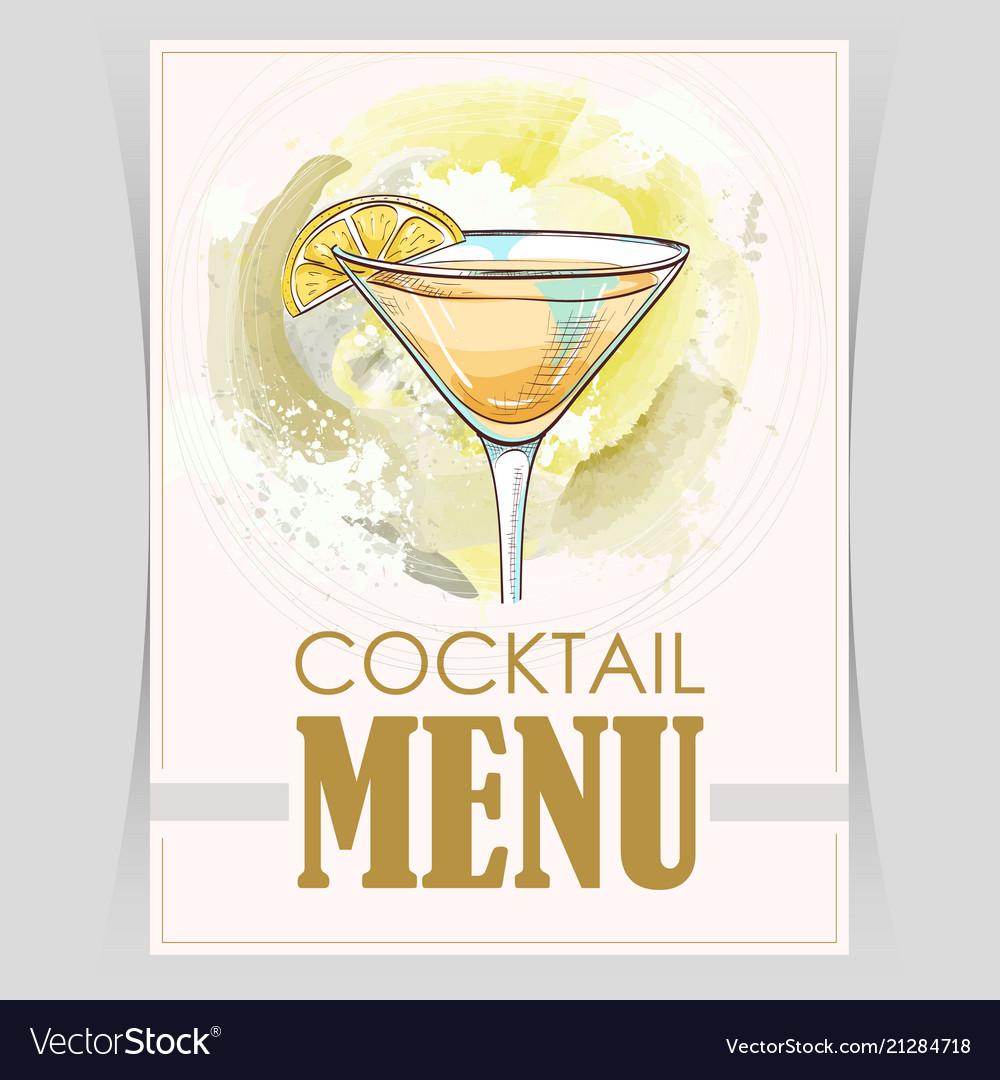 Flyer cover menu