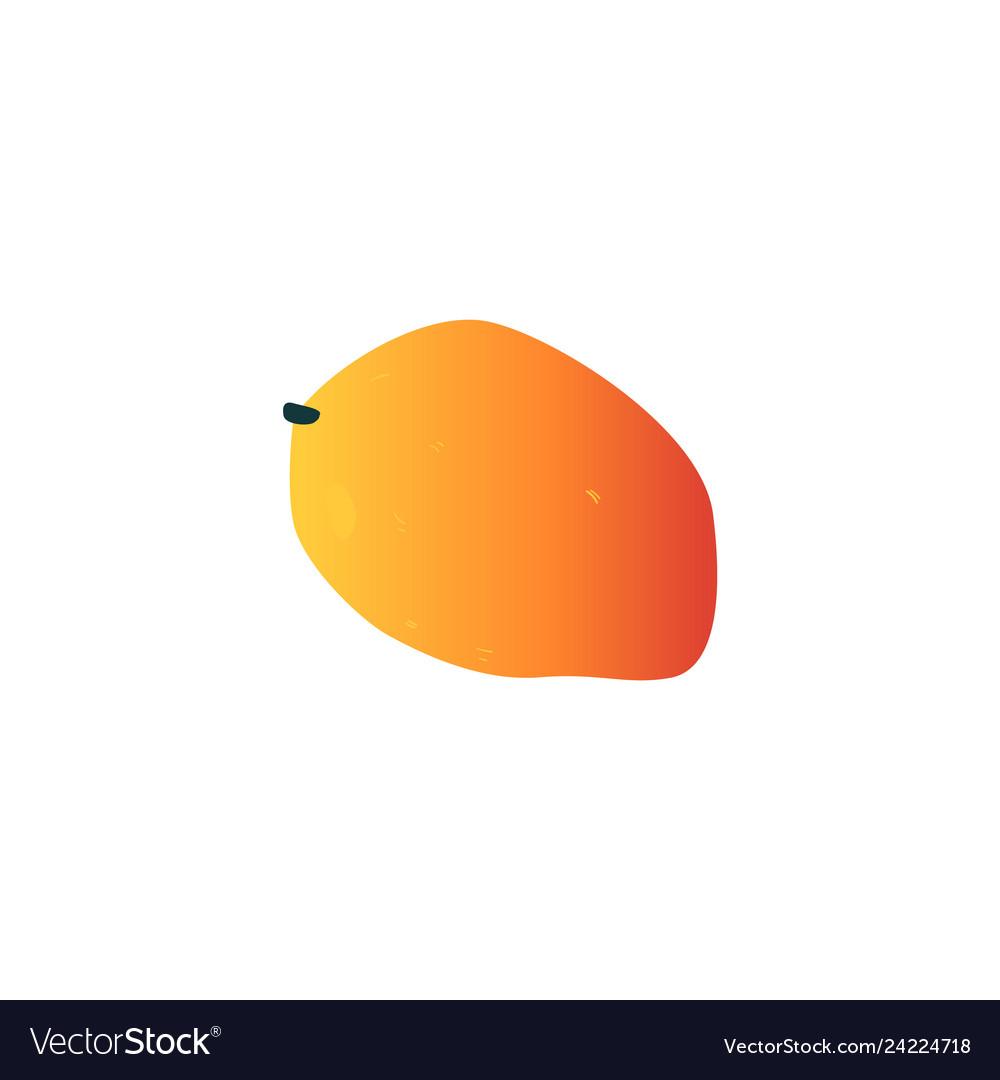 Mango exotic tropical fruit flat icon