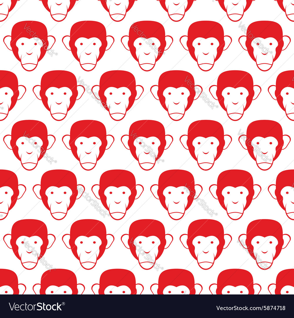 Monkey seamless pattern Head of animal background