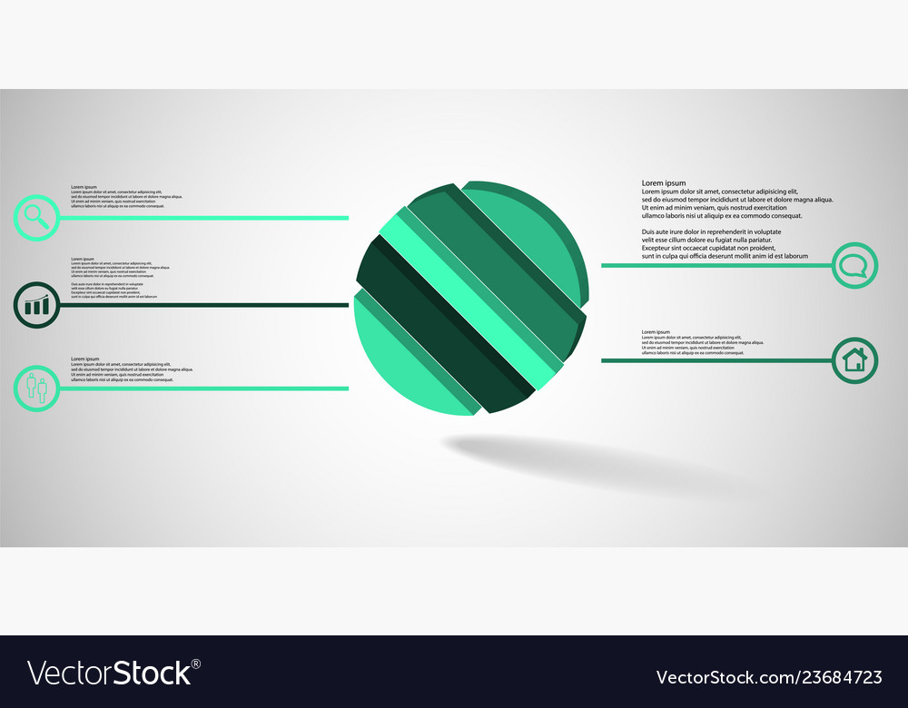 3d infographic template with embossed ring