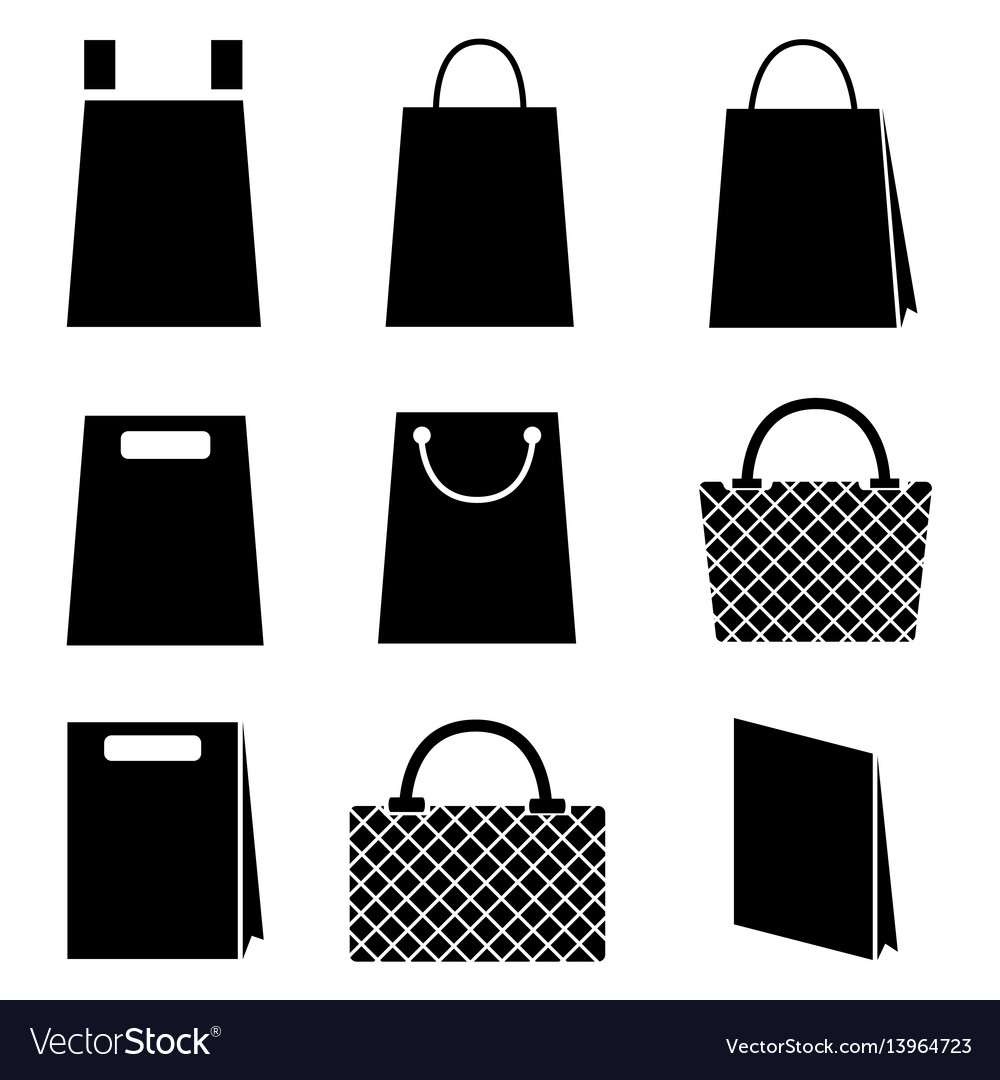 Collection of shopping bag icons