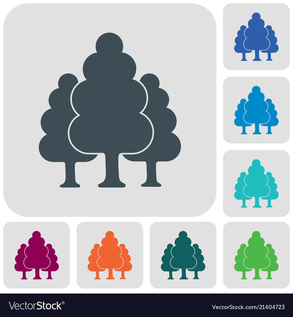 Deciduous forest icon