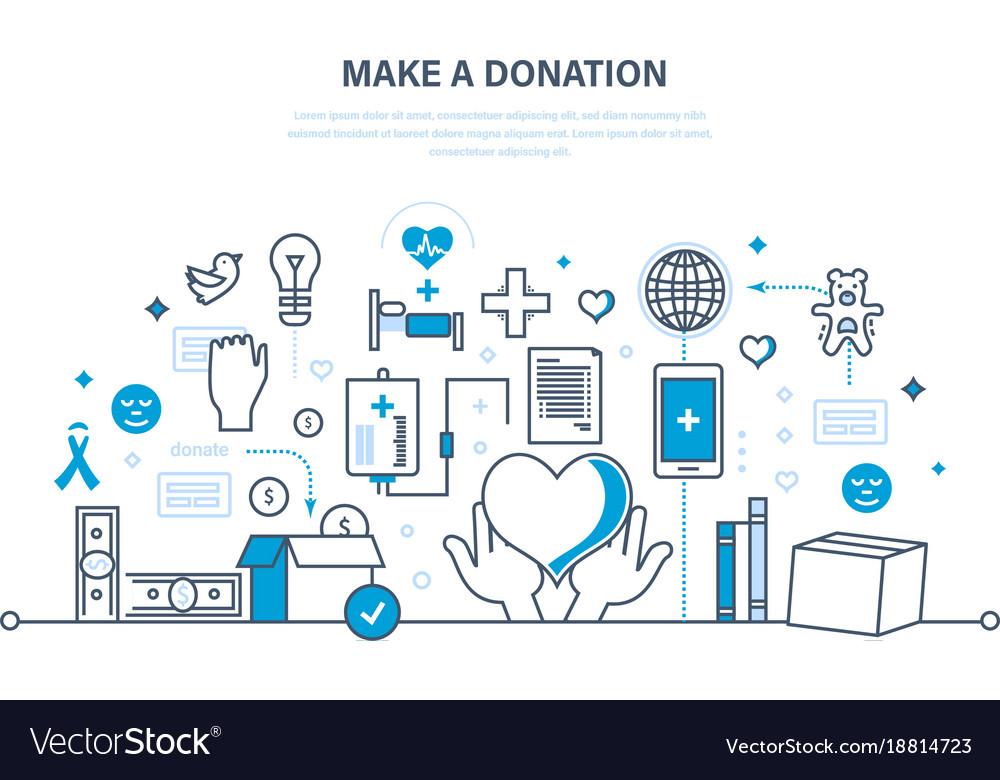 Donations help to health economic status
