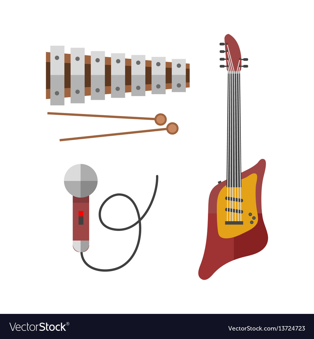 Guitar icon stringed electric musical instrument