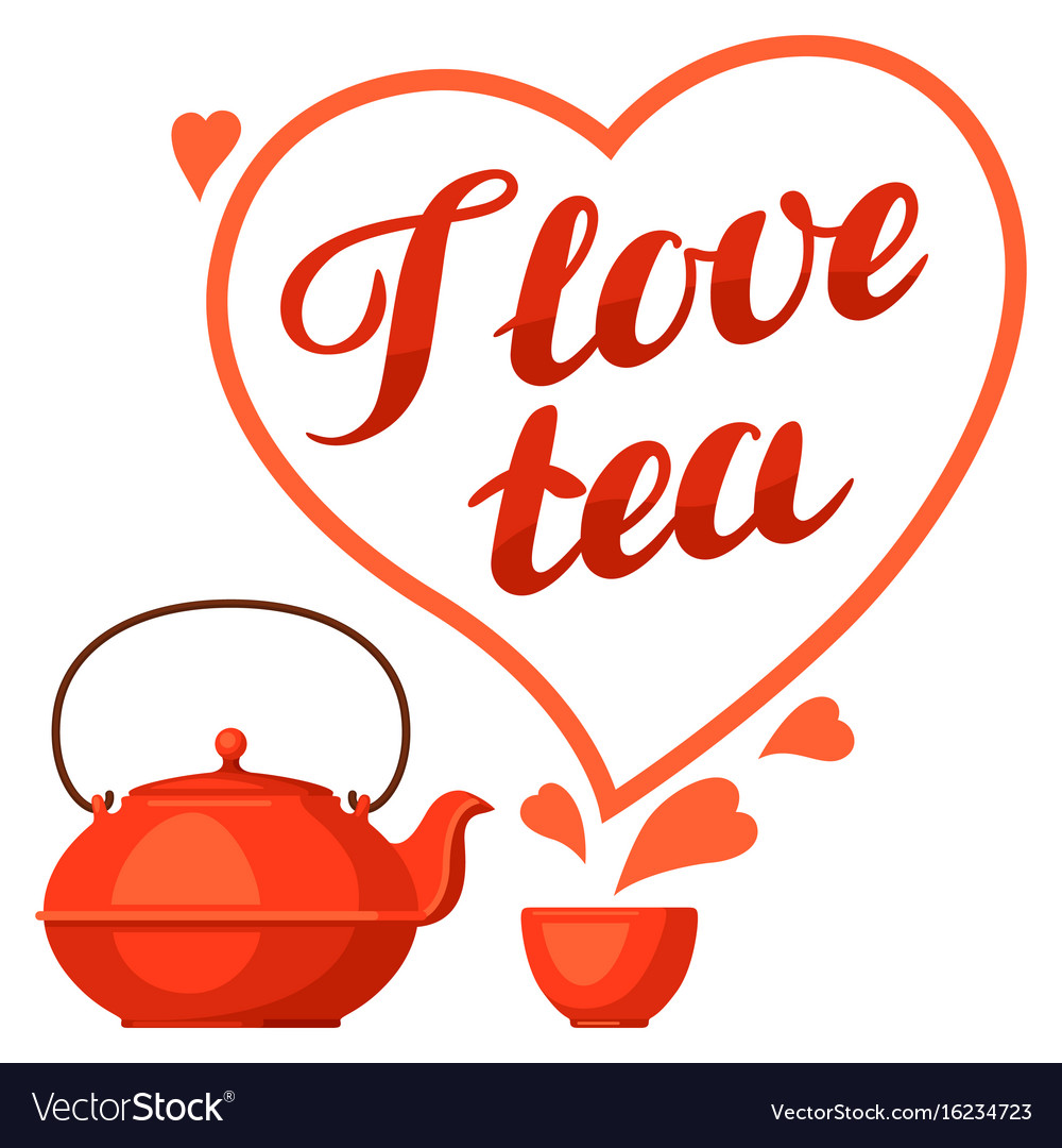 I love tea with kettle and hand