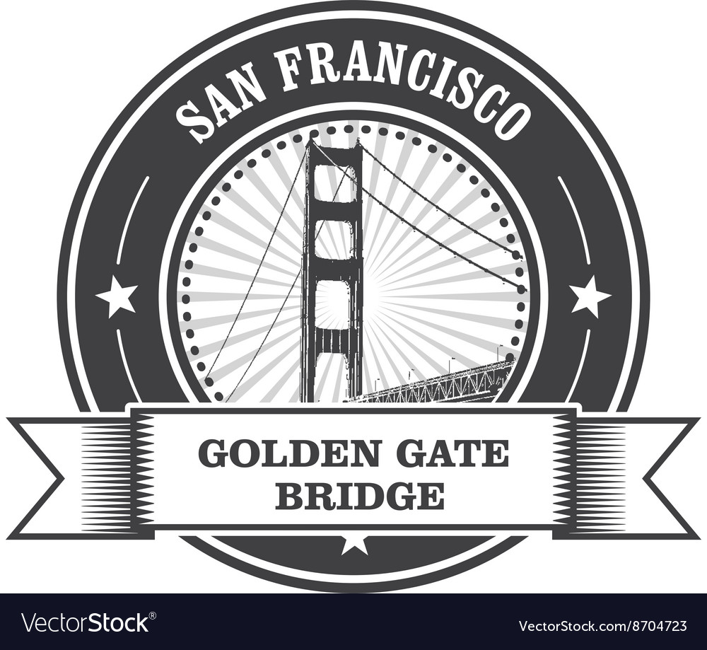 San Francisco symbol - Golden Gate Bridge stamp