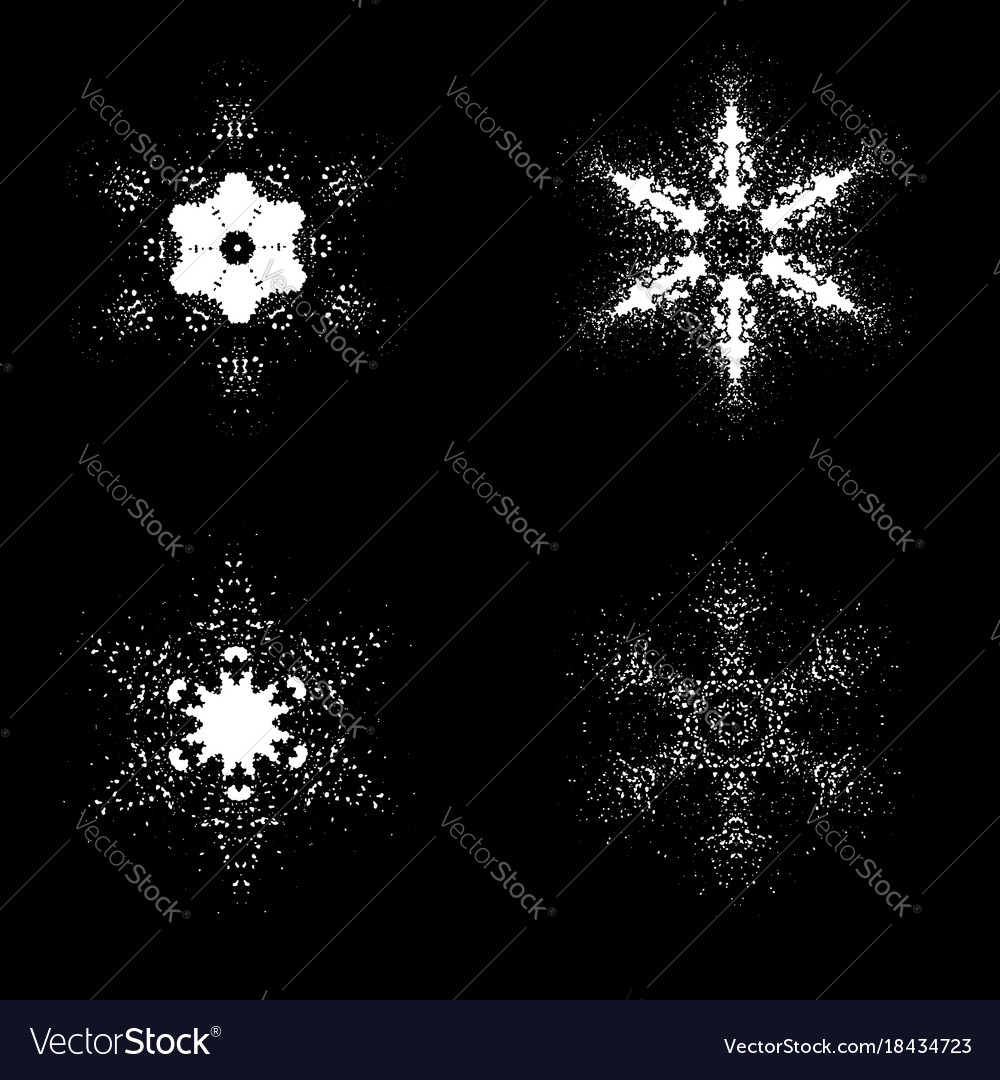 Set of snowflakes isolated