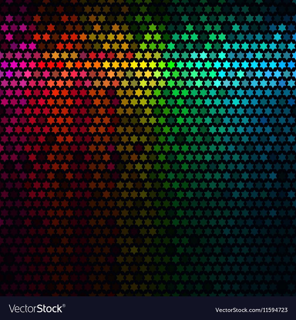 Star pixel mosaic vector image