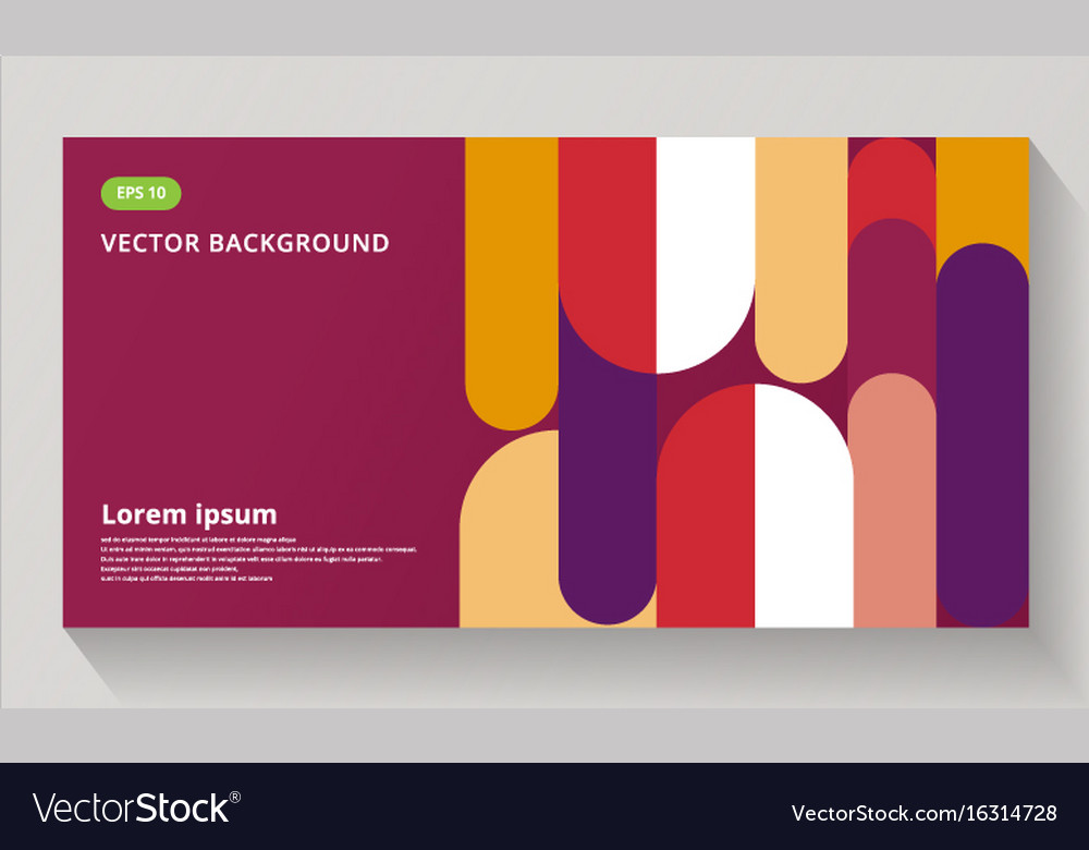 Abstract background composition elements template vector image