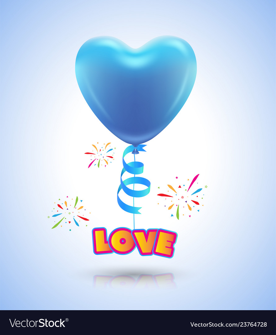 Balloon heart for love event poster and card