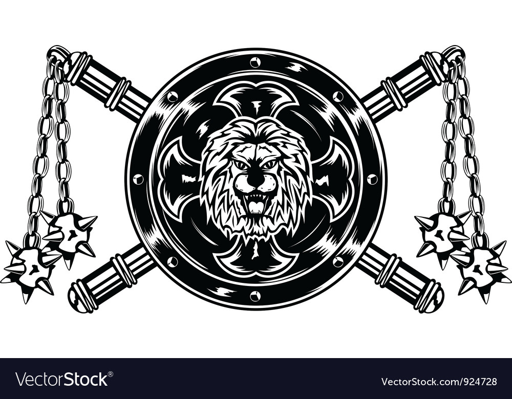 Board with lion vector image
