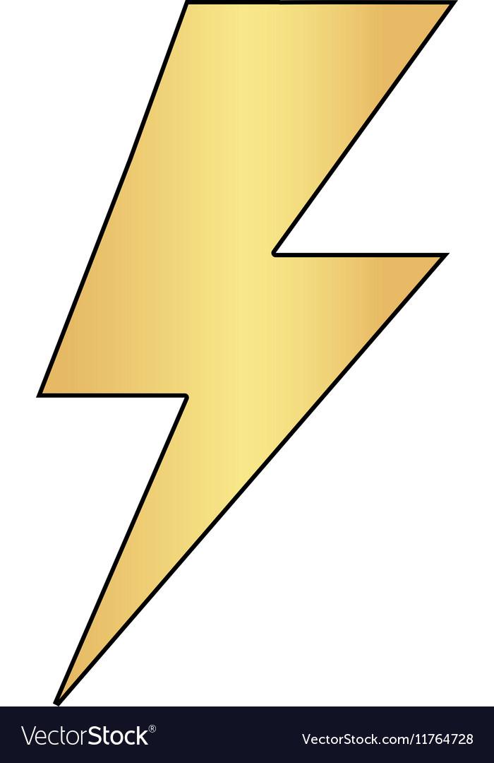 Lighting bolt computer symbol