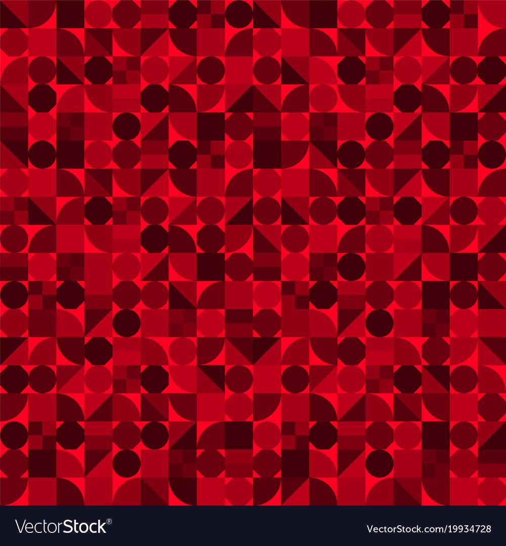 Seamless pattern geometric shapes variety tiles