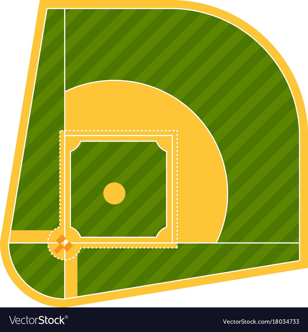 cartoon baseball field batting design royalty free vector