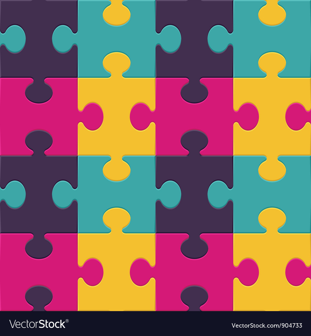 Colorful puzzle seamless background pattern