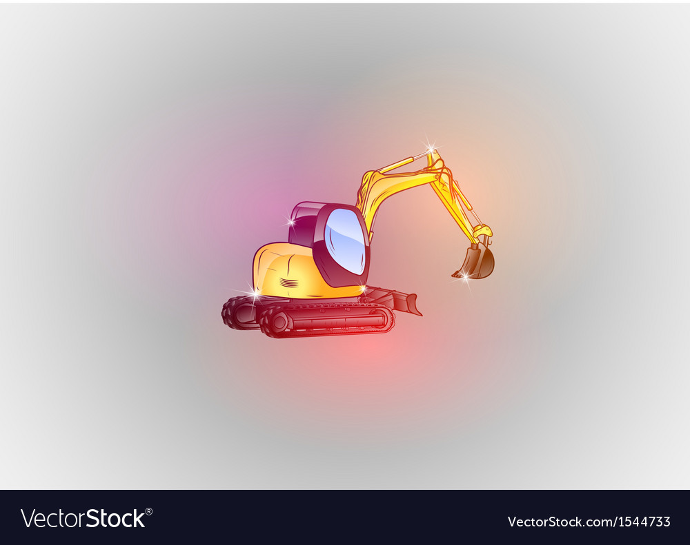 Construction abstract excavator glitter