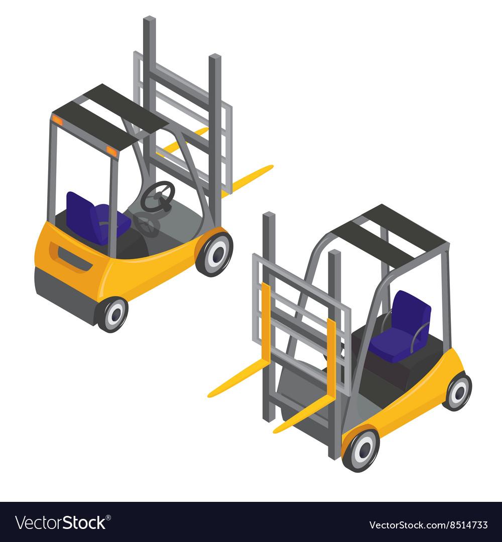 Forklift Transport Isometric Transportation Cargo