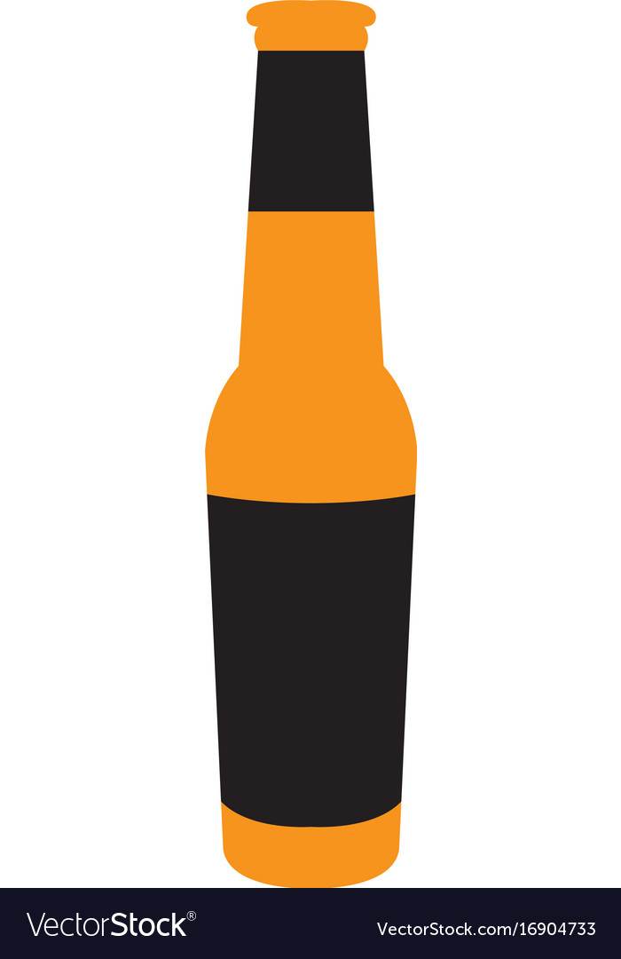 Isolated beer bottle