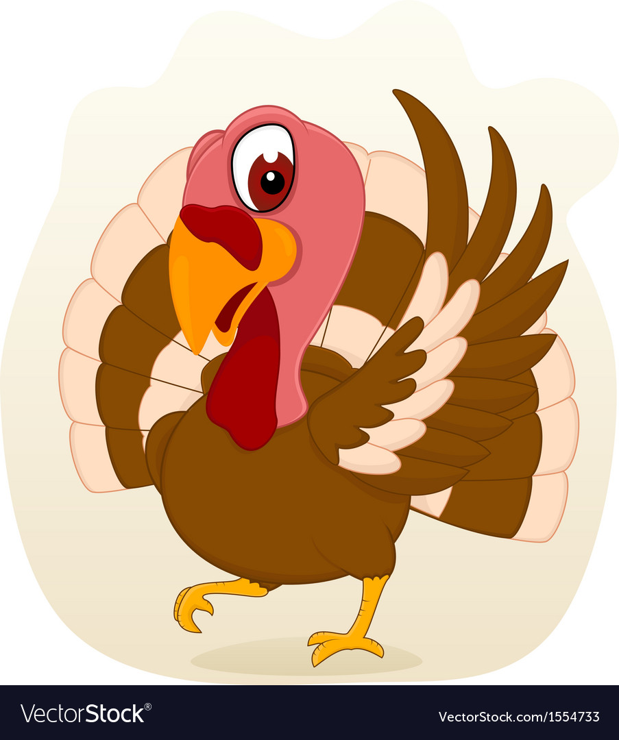 Turkey standing vector
