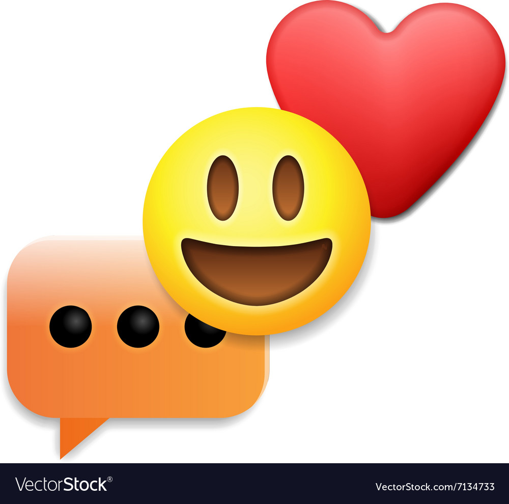 Valentines day emoticon icons Love emoji symbols