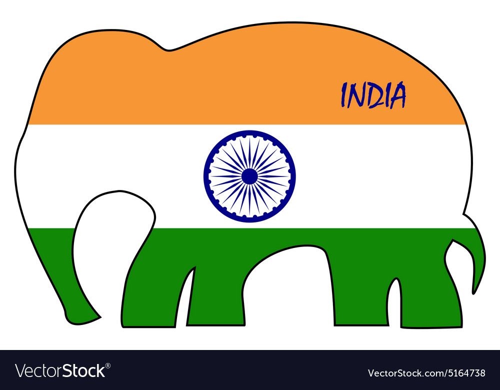 Abstract flag of India vector image