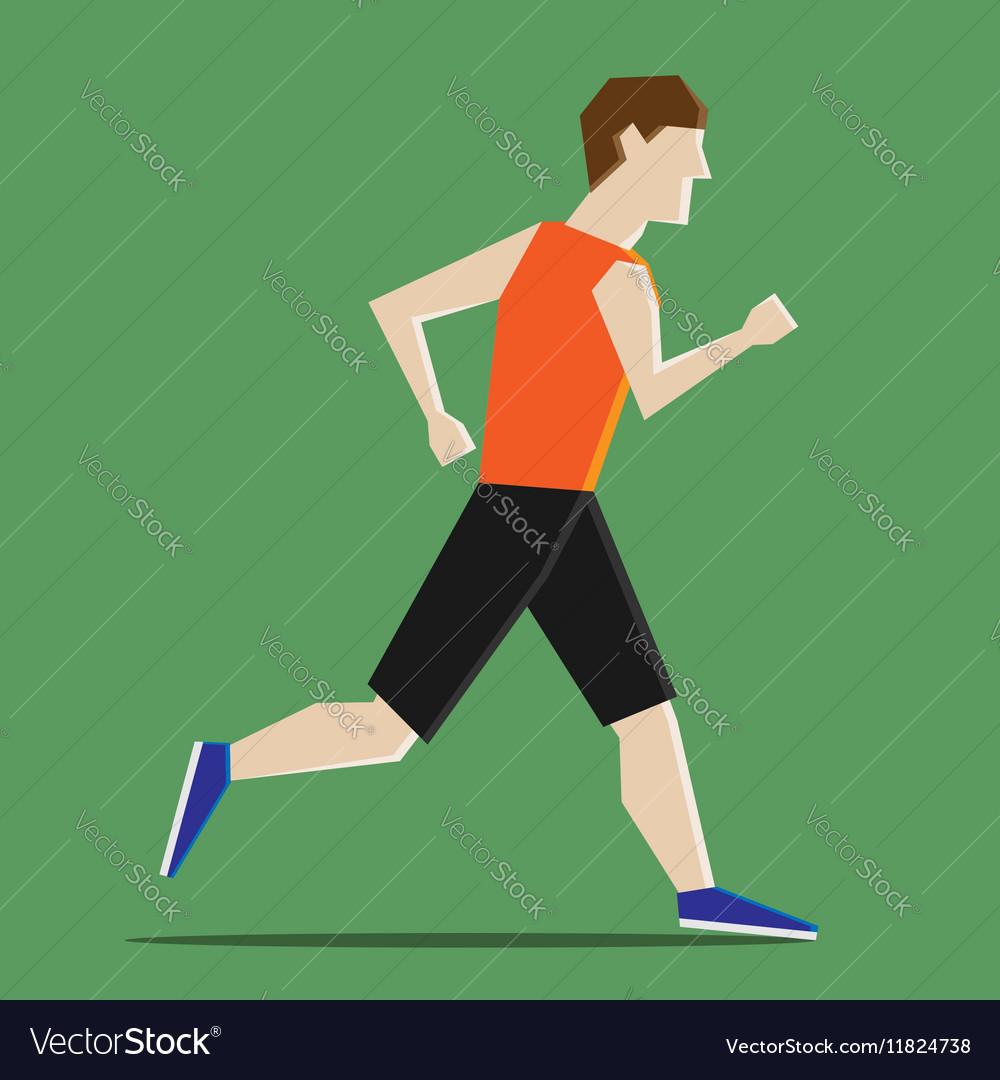 Abstract man running