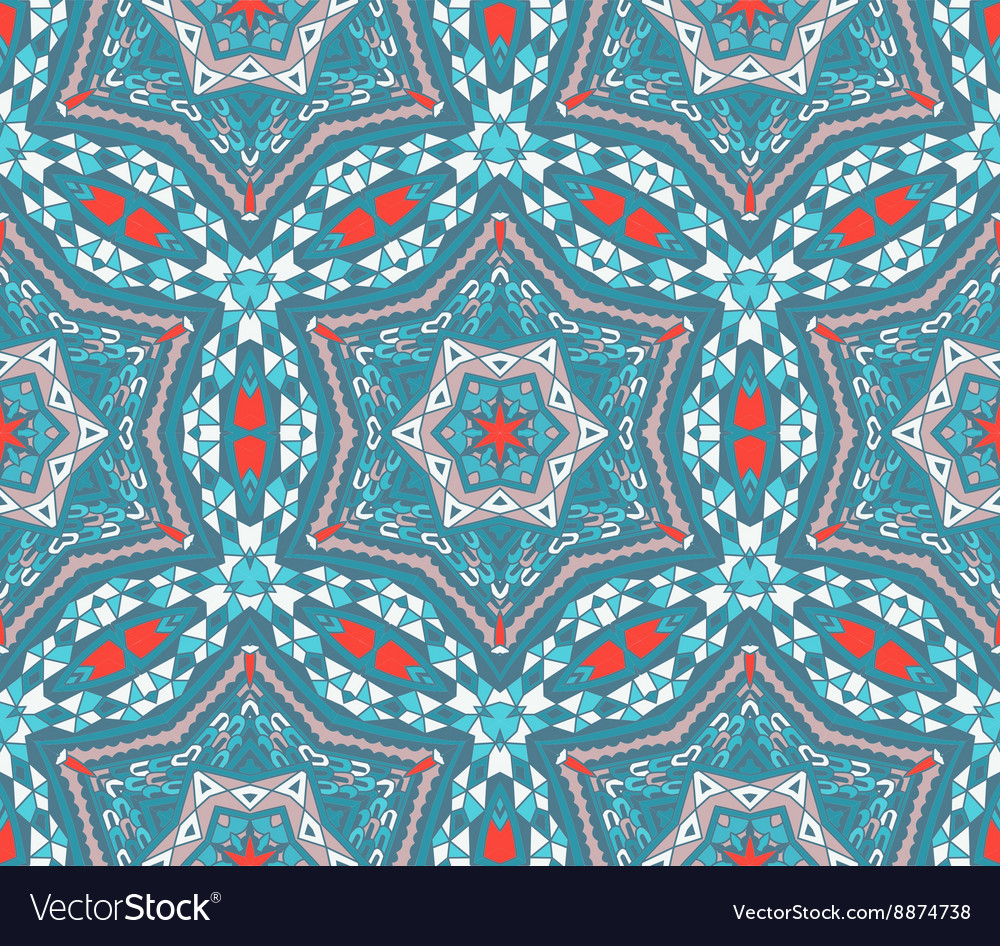 Abstract winter vintage mosaic seamless pattern