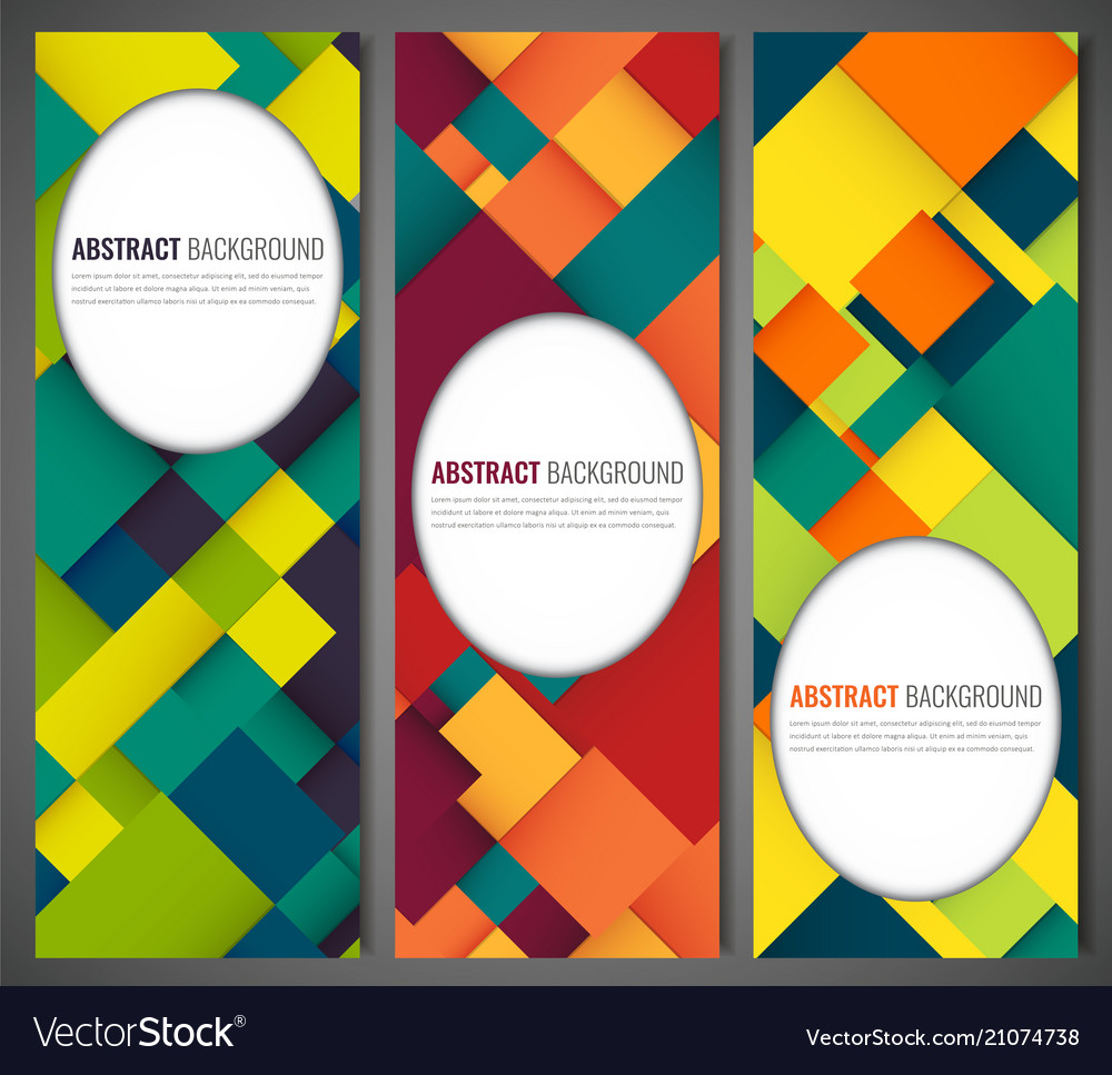 Business banner with colorful squares business