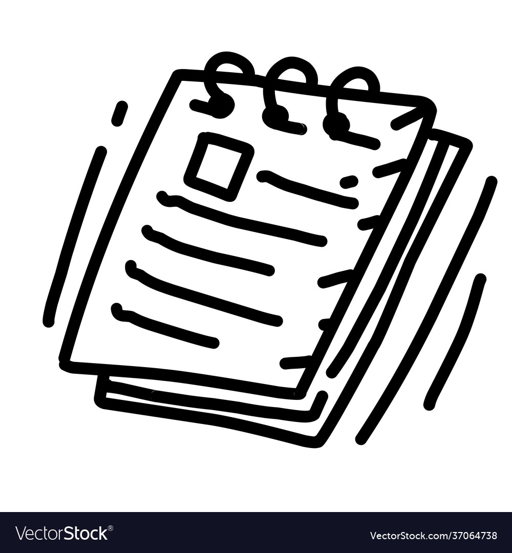 Business notes hand drawn icon design outline