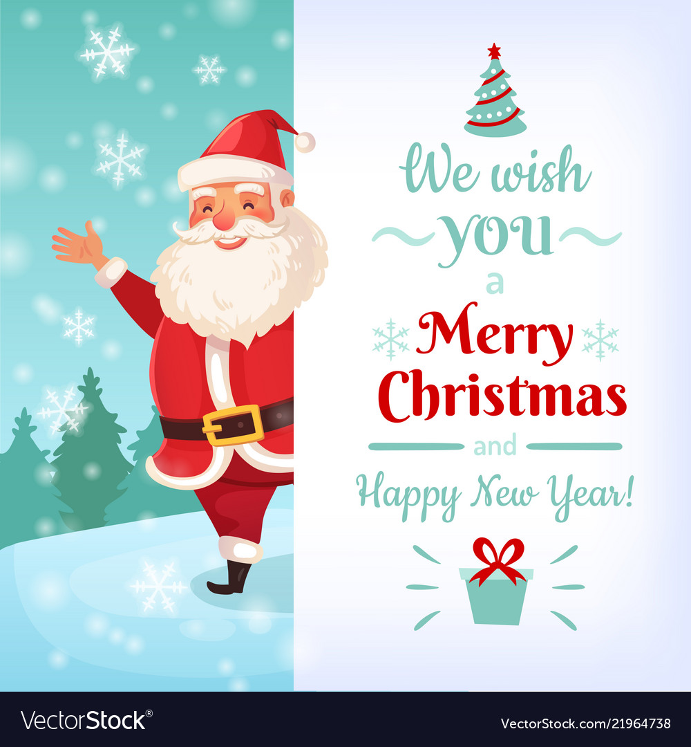 Christmas Cards Images.Merry Christmas Card Santa Claus Greeting Cards
