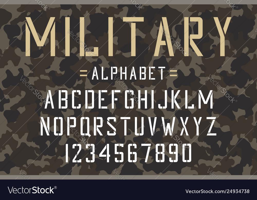 Military stencil font