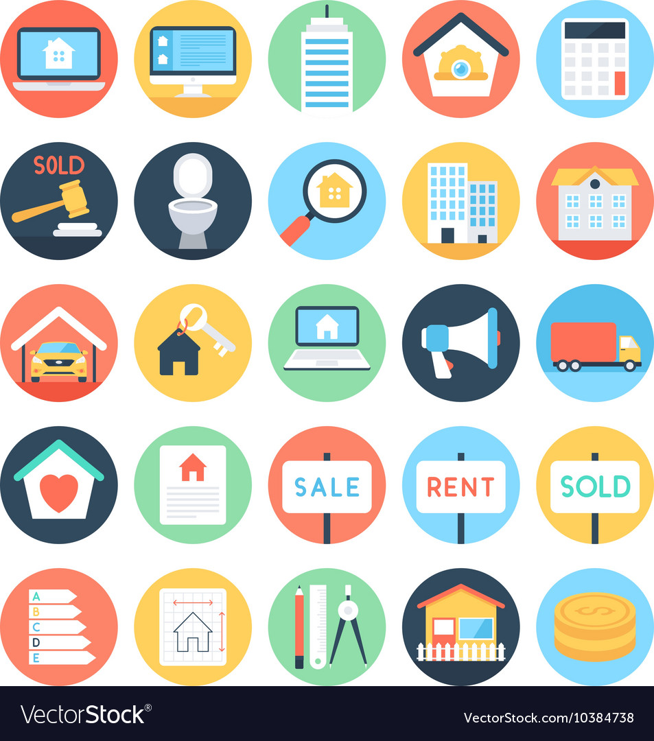 Real Estate Colored Icons 3