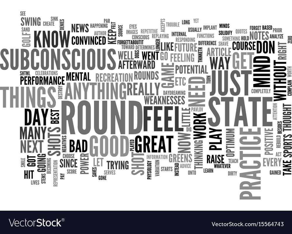 A feel for your golf game text word cloud concept