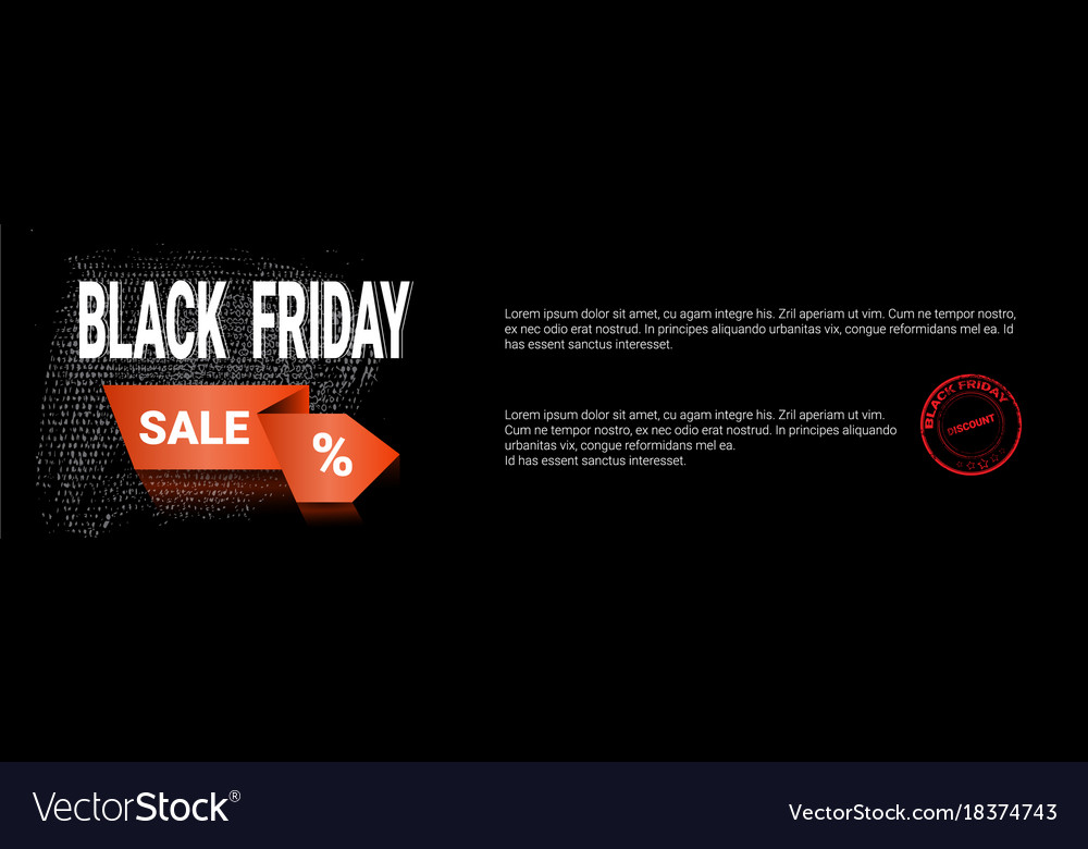 Black friday sale template horizontal banner with