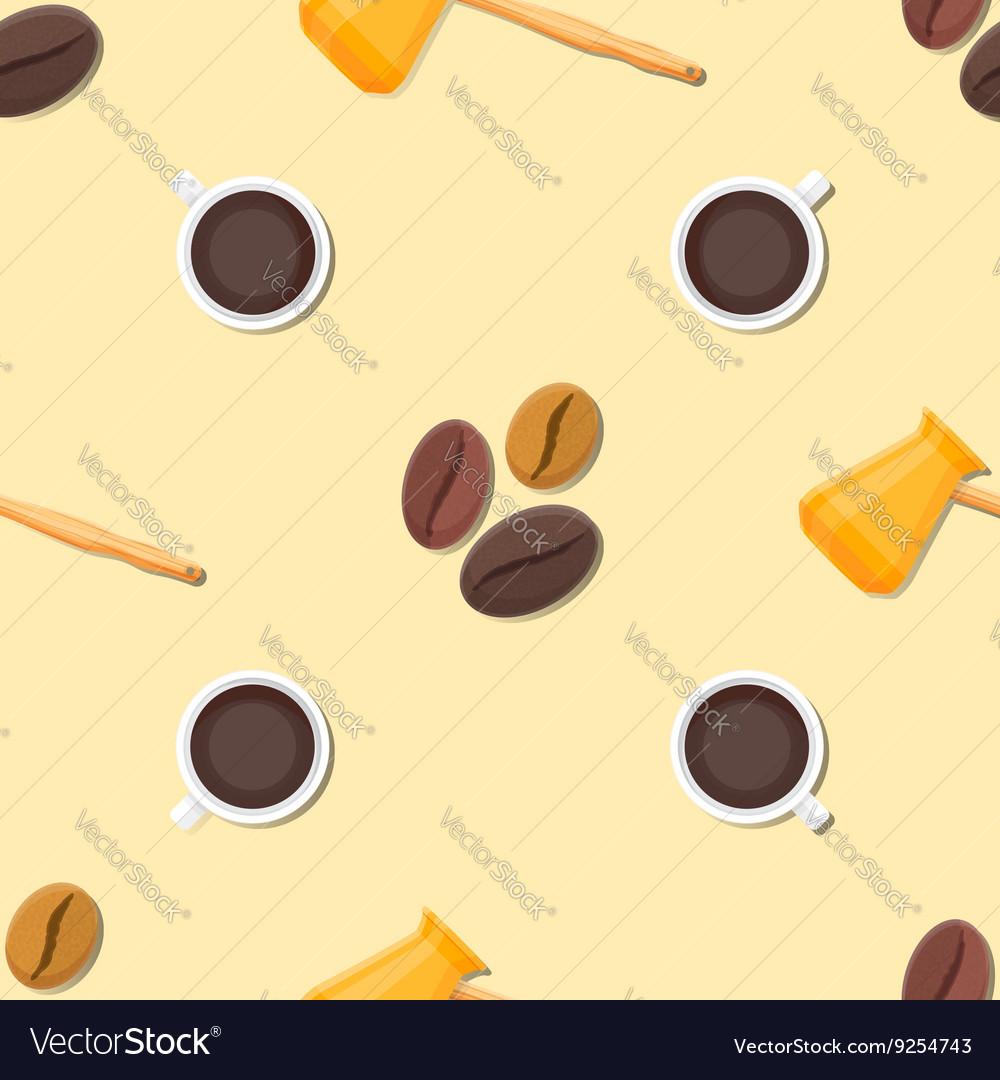 Coffee barista deco seamless pattern
