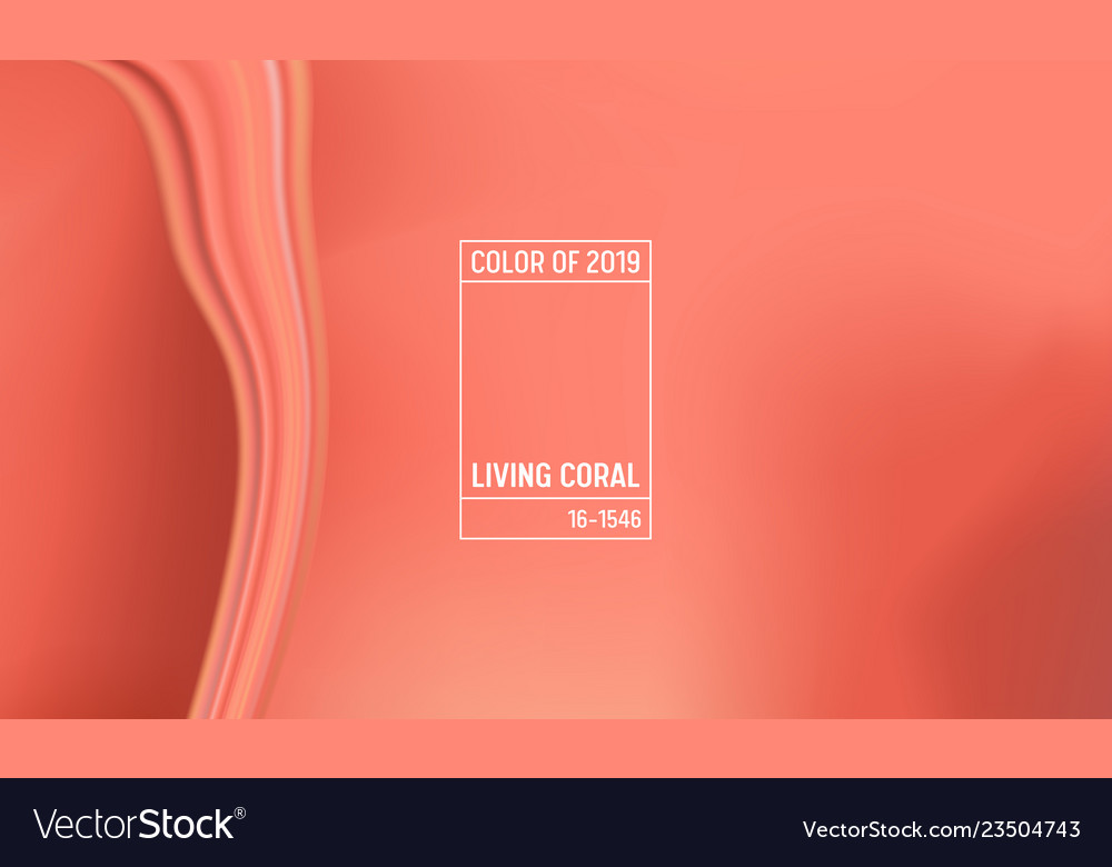 Coral color of the year 2019 abstract background