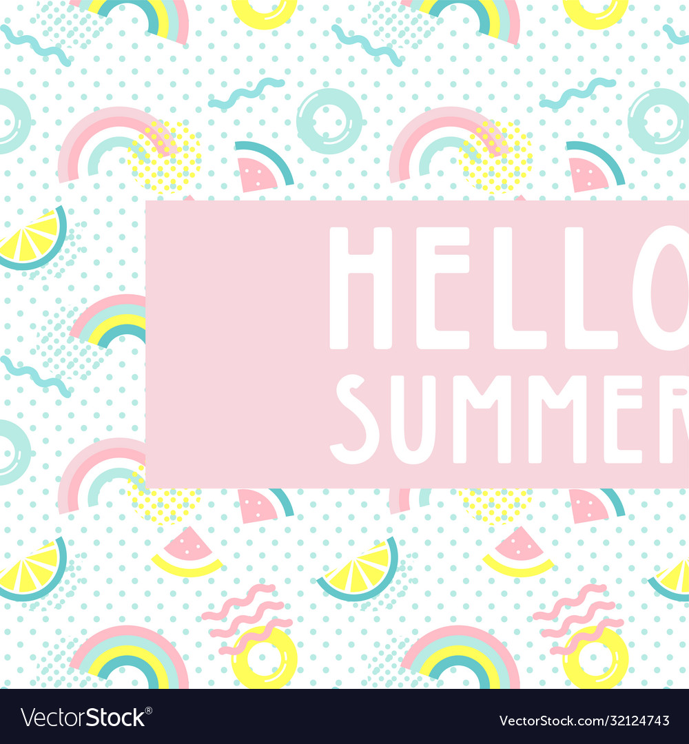 Hello summer abstract card summer funny wallpaper