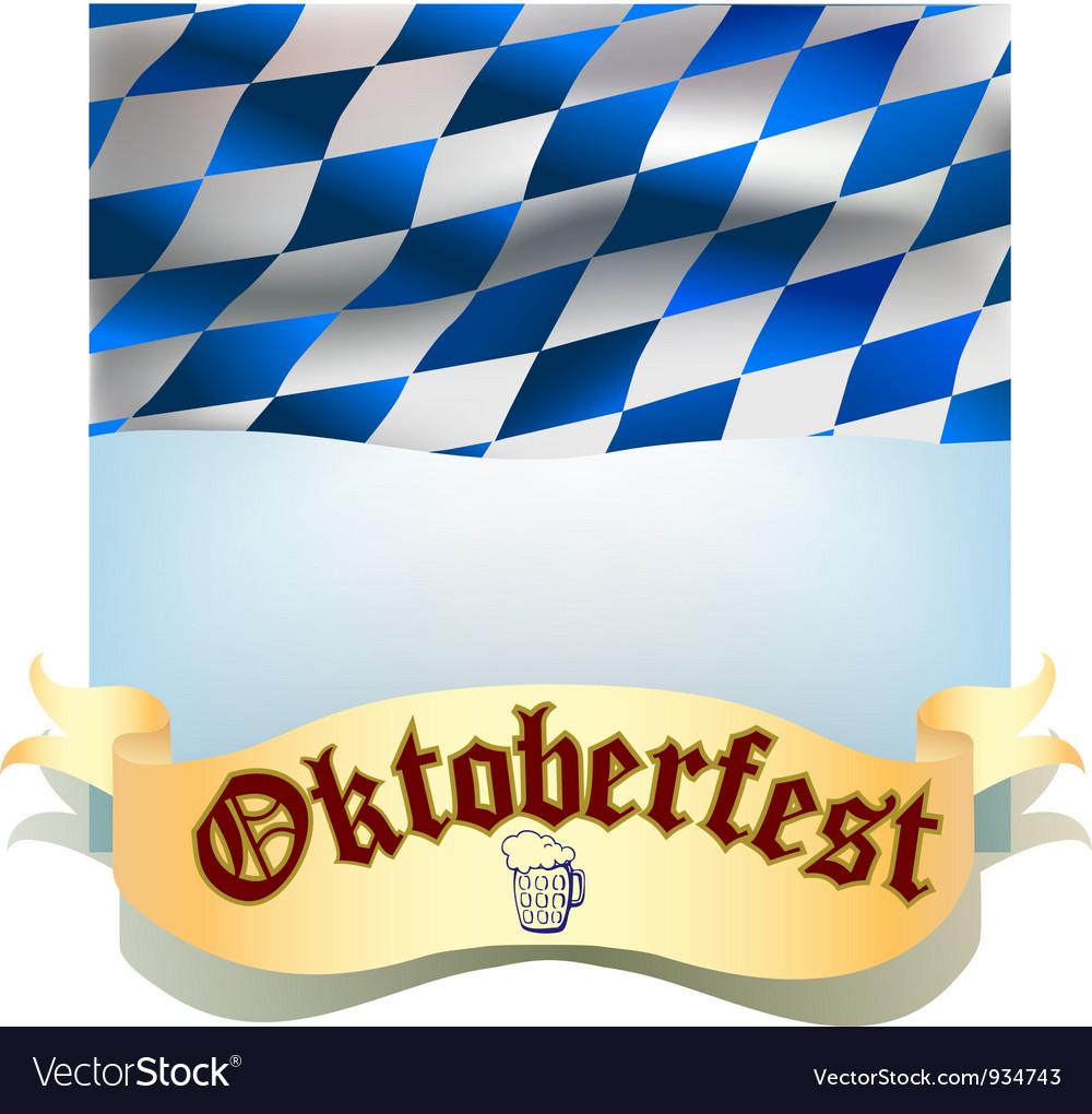Oktoberfest banner with flag